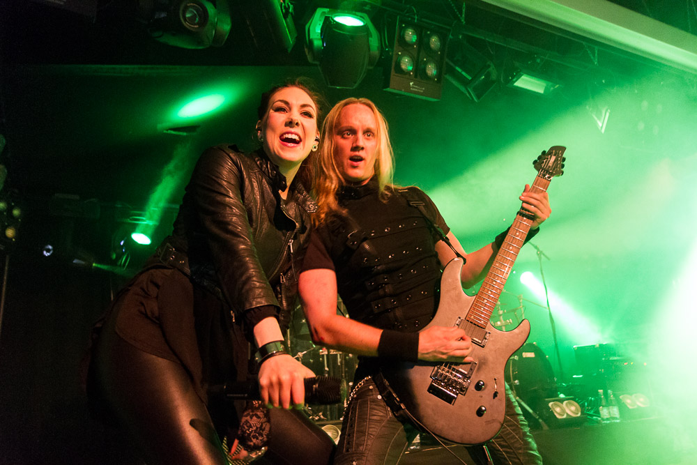 Elize Ryd and Olof Mörck of Amaranthe