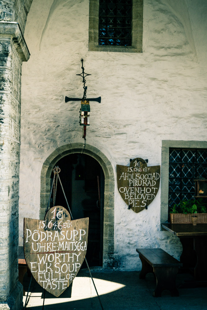 Signs on the old Tallinn Town Hall