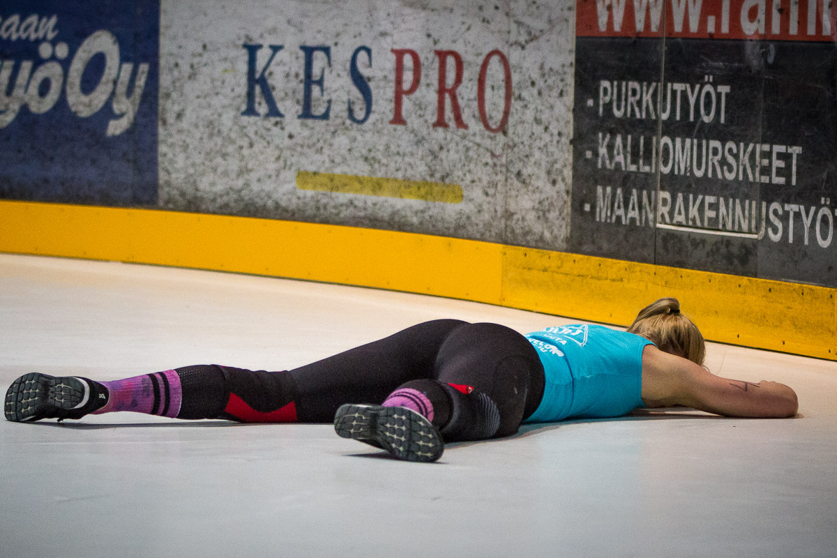 crossfit athlete tired after an event